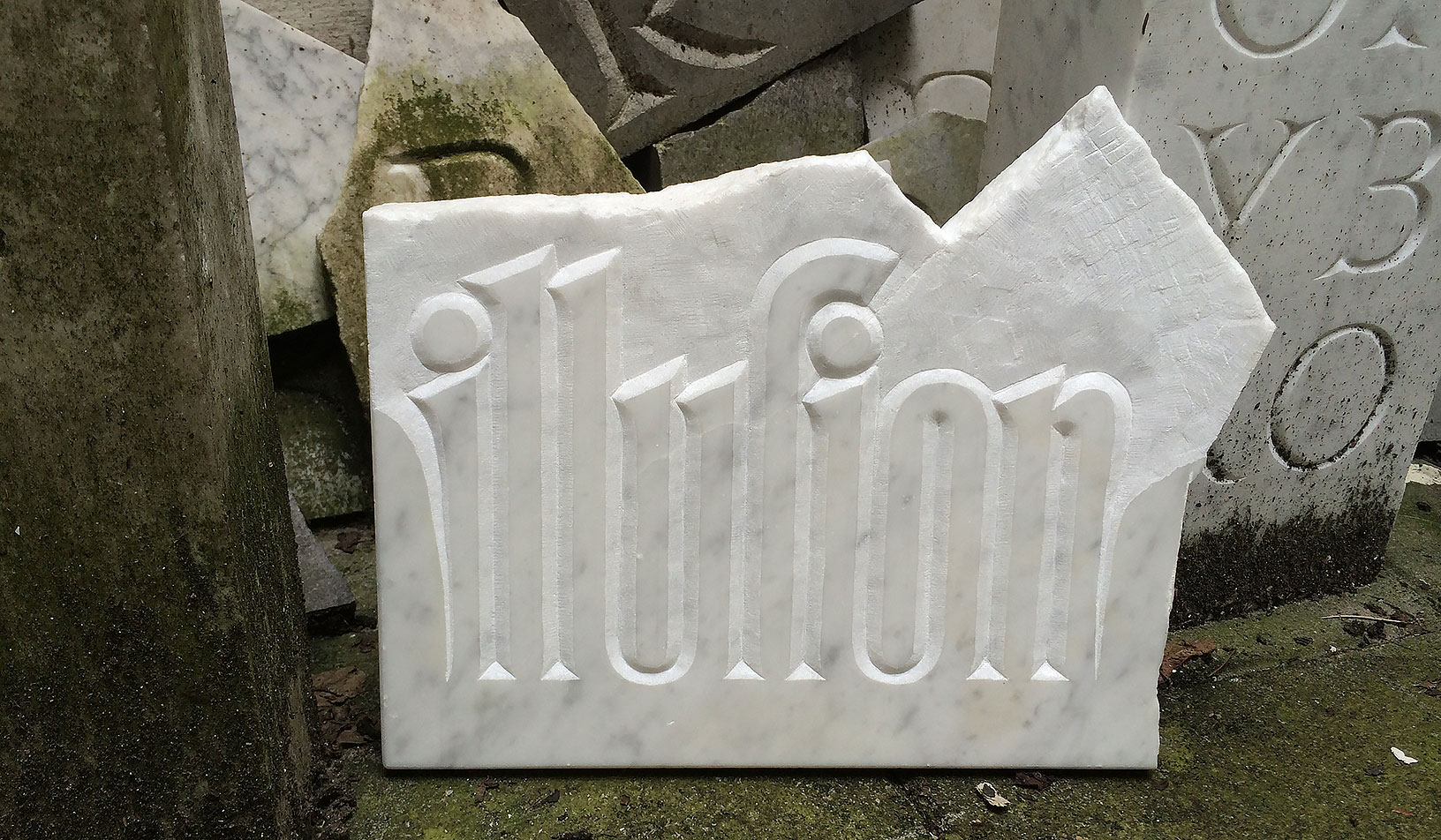 My final stonecarving piece for TypeMedia 1314